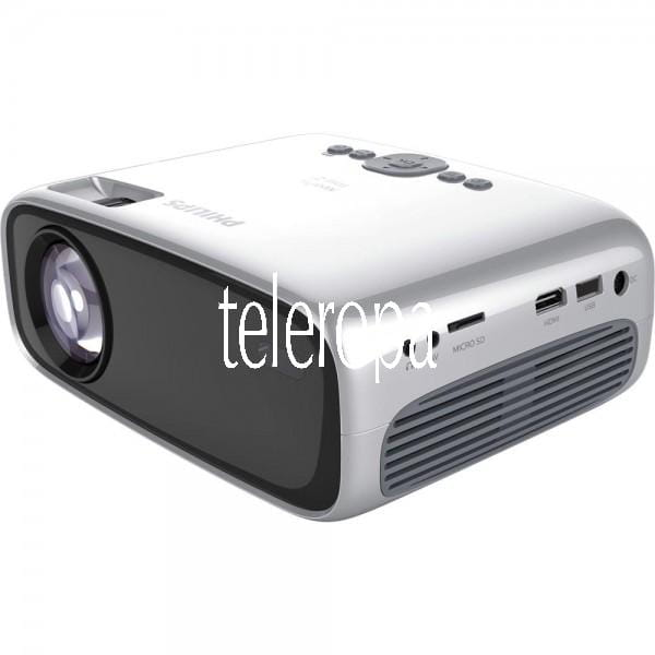 "NeoPix Easy 2+ HD Mini-Projektor / Beamer (Stereosound, LED, WLAN, Bluetoth, bis zu 80"" (300cm), HDM"