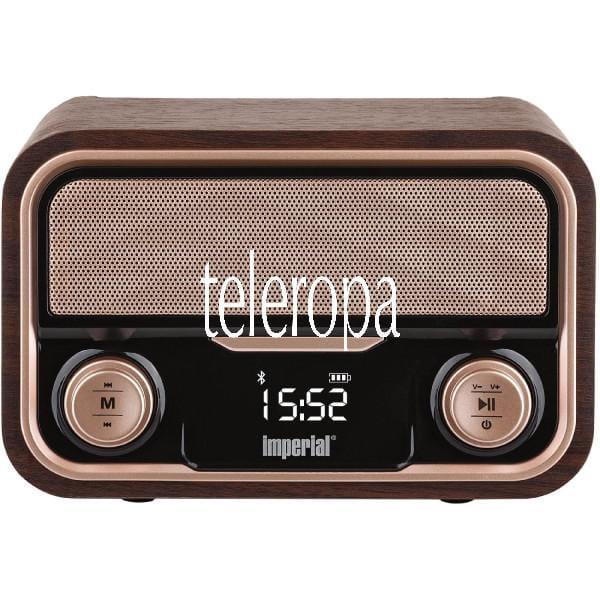 BEATSMAN RETRO Stereo-Lautsprecher (Bluetooth, USB Anschluss, Micro-SD Kartenleser, Retro-Optik, 200