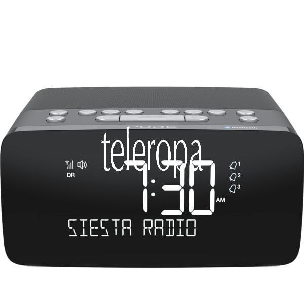 Siesta Charge, Graphite, EU/UK DAB+ & UKW Radiowecker mit Ladepad