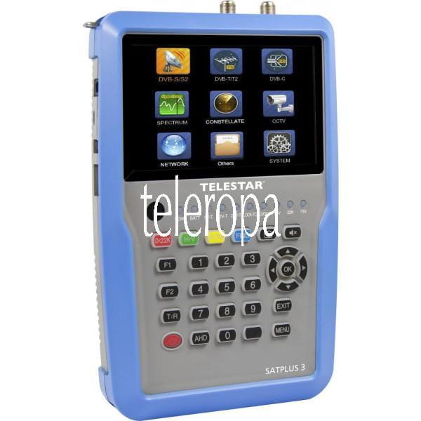 TELESTAR SATPLUS 3 Digitales SAT- Kabel- und DVB-T2 Messgerät Bild1