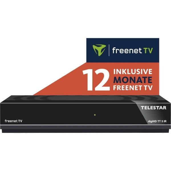 TELESTAR digiHD TT 5 IR DVB-T2 / DVB-C HDTV Receiver mit freenet TV für 12 Monate Bild 1