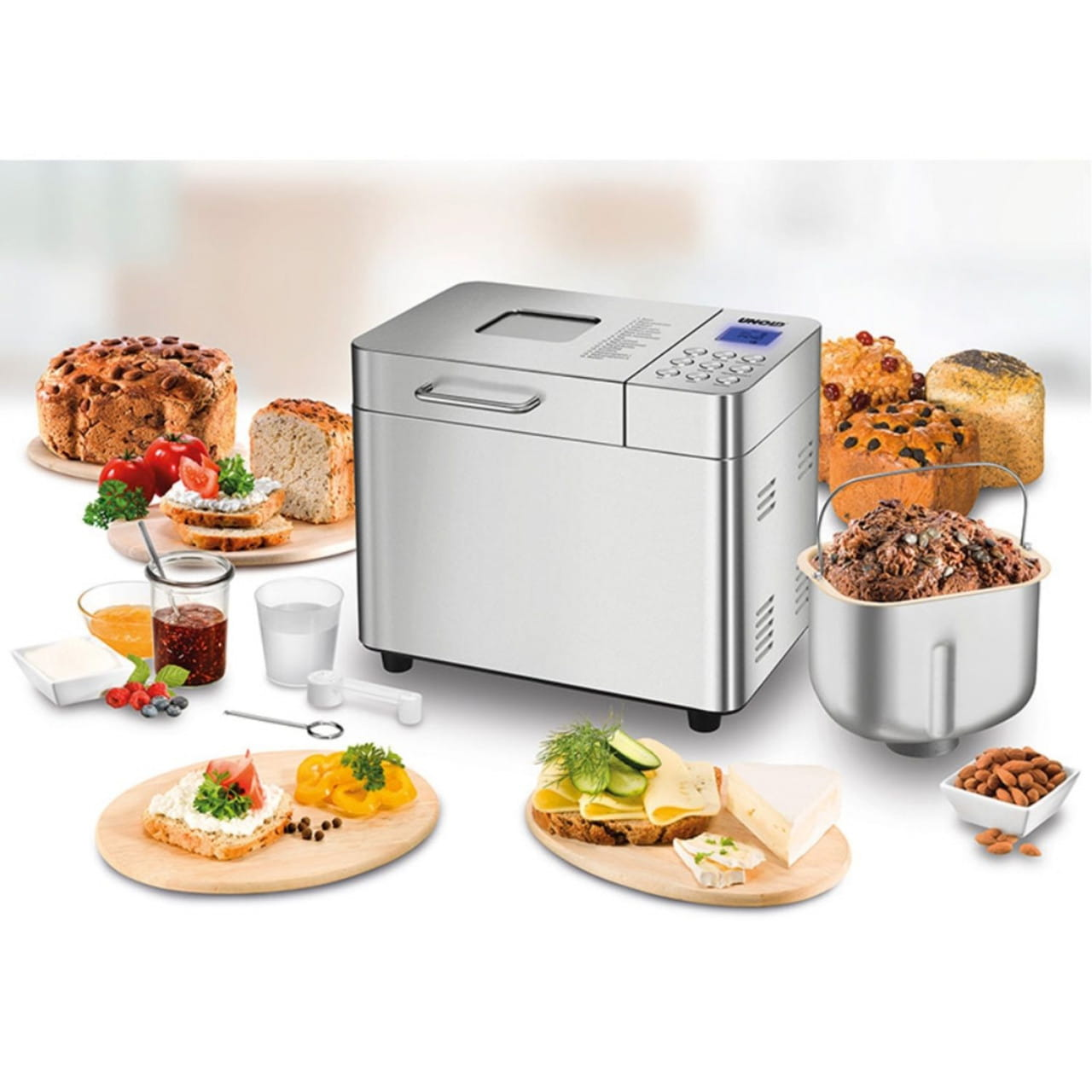 BACKMEISTER Edel (Brotbackautomat, Keramik-Beschichtung, Backofen, Edelstahlg...