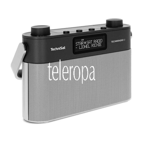 Techniradio 8 Portables Digitalradio mit Tragegriff (DAB+, UKW, Sprachansagen, Radiowecker)
