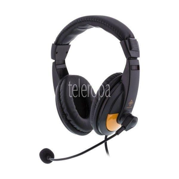 DELTACO GAMING Stereo-Gaming-Headset Schwarz Kopfhöhrer für Gamer mit Mikrofon