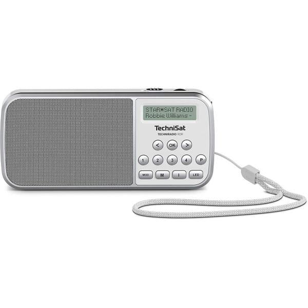Techniradio RDR portables DAB+/UKW-Taschenradio mit LED-Taschenlampenfunktion