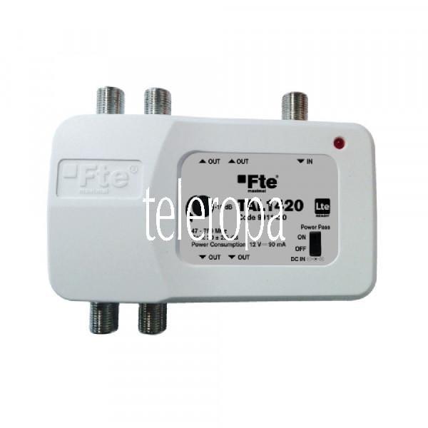TAL 1420 Hausanschlusssignalverstärker (BK-Ter-Verstärker 1 x Eingang - 4 x Ausgänge mit LTE Filter,