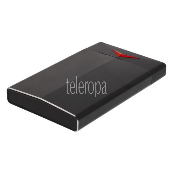 DELTACO GAMING 2.5 SATA HDD / SSD-Gehäuse, LED, USB 3.1 10 Gbit/s, Plug and Play