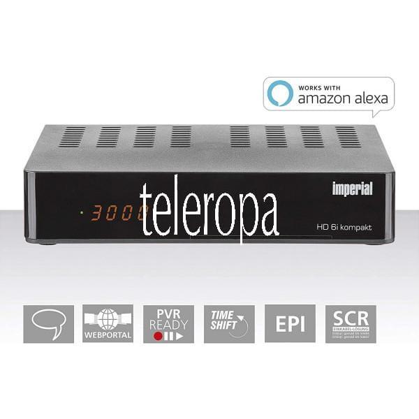 HD6i kompakt HD Sat Receiver - Smart (DVB-S2, Alexa Voice, Sat to IP, Web-Portal, PVR Ready)