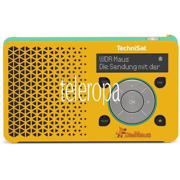 DIGITRADIO 1 Maus Edition DAB+ (DAB/UKW-Teleskopantenne, Portables Radio, 3,5mm Klinke, OLED, Lithiu