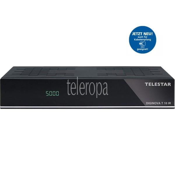 TELESTAR Diginova T10 IR DVB-T2 HD und DVB-C Receiver (Freenet TV, HEVC, HDMI, Scart, USB, LAN) B-Ware