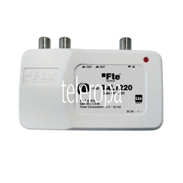 TAL 1220 Hausanschlusssignalverstärker (BK-Ter-Verstärker 1 x Eingang - 2 x Ausgänge mit LTE Filter,