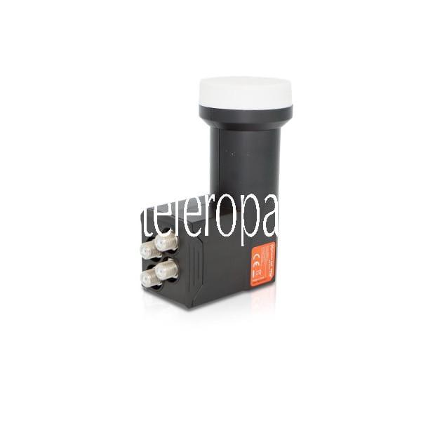 eXcellento Red HQ Quad LNB (für 4 Teilnehmer/Receiver einsetzbar, 0,8dB, 4K/UHD, full HD, Wetterschu