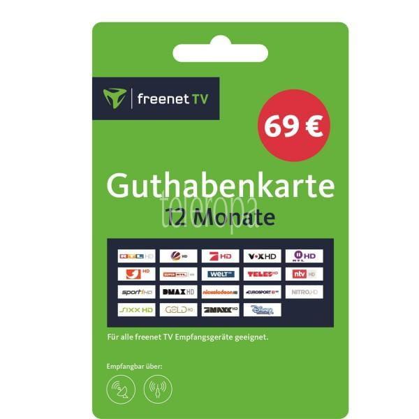 freenet TV Guthabenkarte - Voucher Gutschein für 12 Monate Bild
