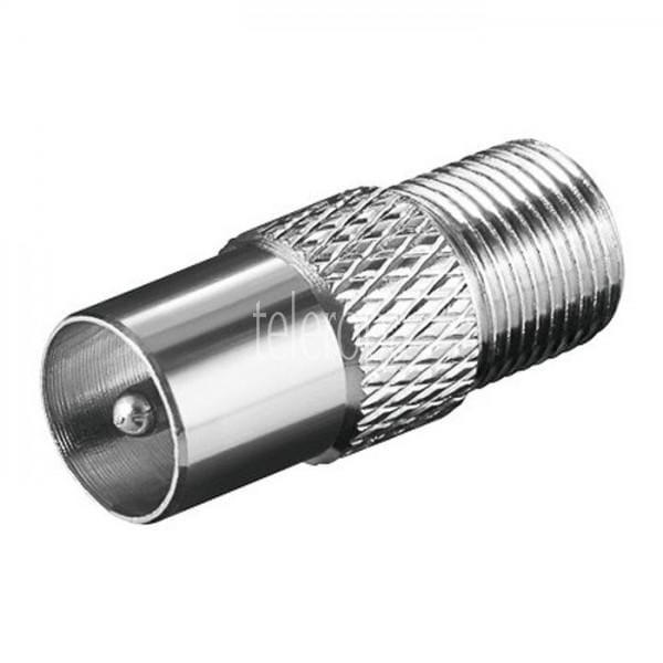 Adapter F-Kupplung auf IEC-Stecker